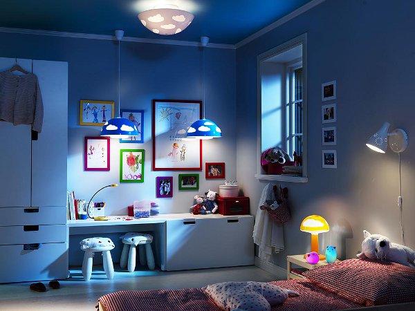 Как нужно оформить освещение детской комнаты?