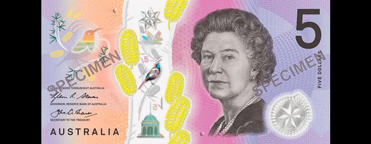 5 австралийских долларов 2016 года