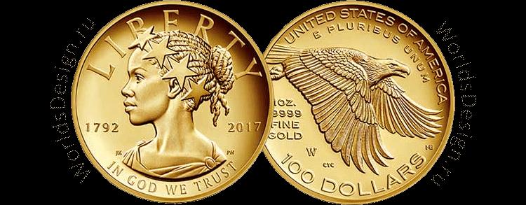Представлена золотая монета, выпускаемая к 225-летию Монетного двора США
